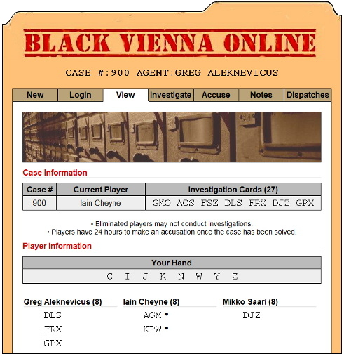 Black Vienna Online screen shot