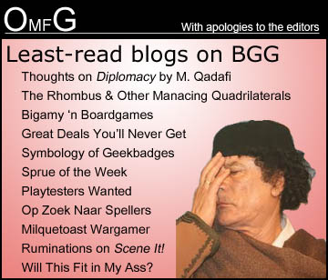 Least-Read Blogs on BGG