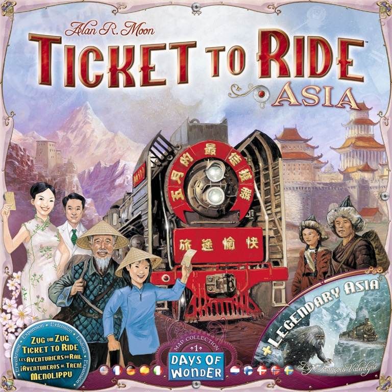 Map Of Asia Review Game.Dale Yu Review Of Ticket To Ride Asia The Opinionated Gamers