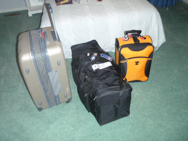 The three bags from 2012.  don't know where the backpack went