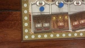 closeup of the score track