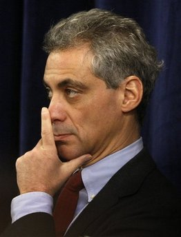 White House Chief of Staff-designate Rahm Emanuel either doesn't want to go first or he smells something fishy.