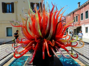Example of glass sculpture from plaza in Murano.