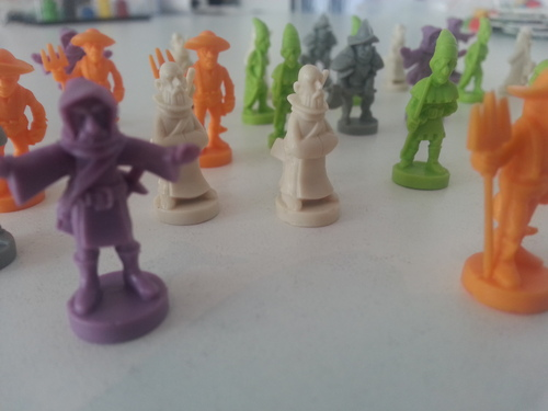 picture of the figures - taken by the game designer himself