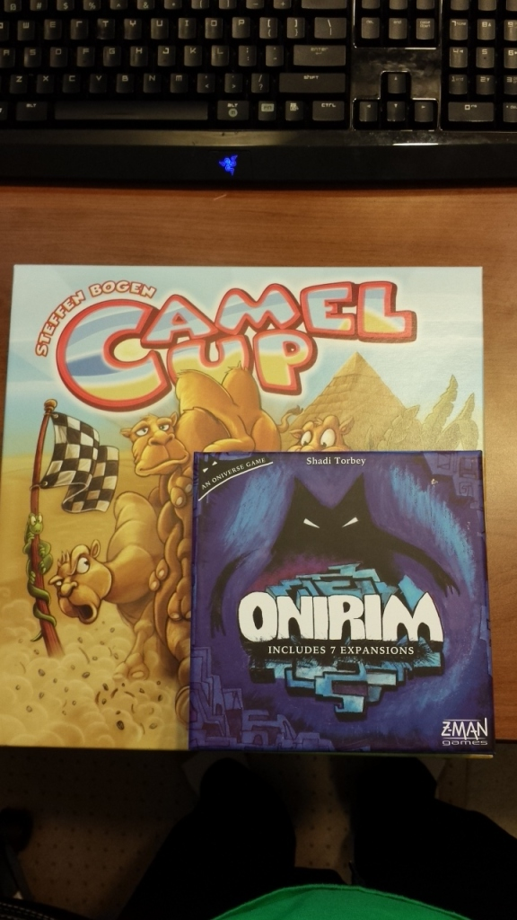 Camel Up is a standard 30cm square box