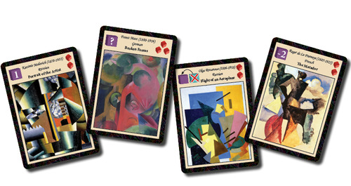 some of the artist cards