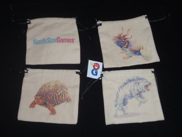 The nice cloth bags where you store your eaten food tokens