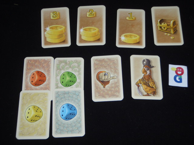 Treasure and parrot cards