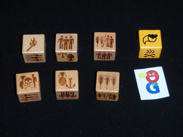 The wooden dice