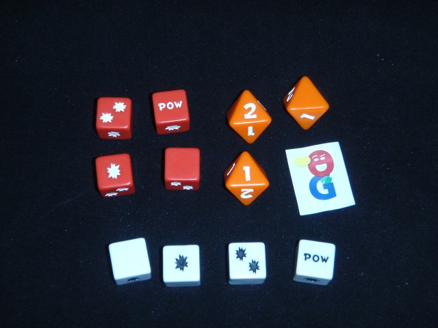 The different dice in the game