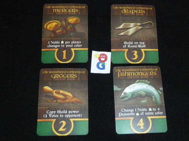 Some of the faction cards