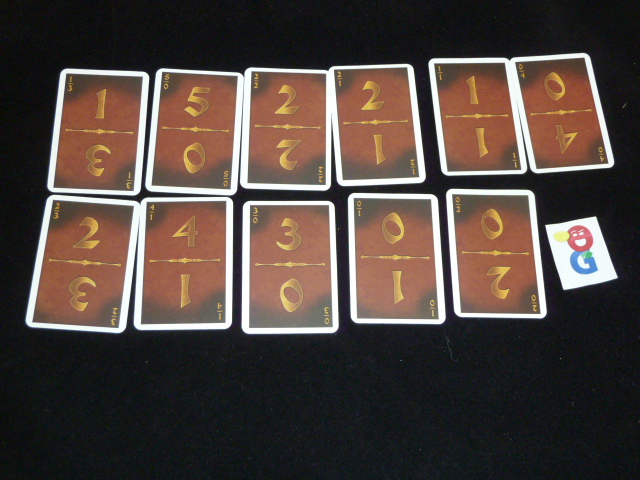 The brown player's deck of Construction Cards