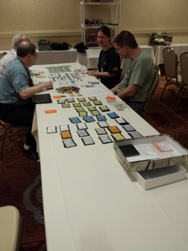 Here's Dan playing the game with the Splotter folks