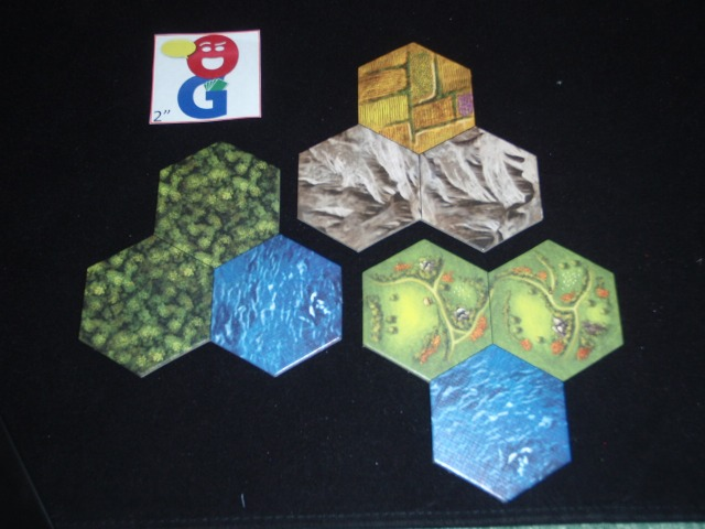 Some of the hexes up close