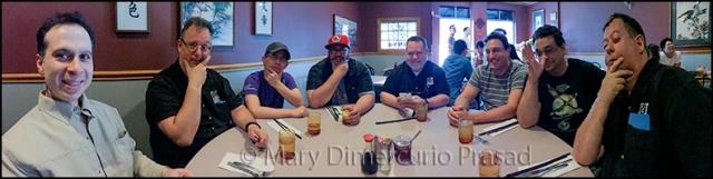 Moy's, waiting for dinner - L to R: Ravindra Prasad, Dan DiLorenzo, Sen-Foong Lim, Daryl Andrews, Brian Lenz, Zev Shlasinger, Vinny Salzillo, Frank DiLorenzo