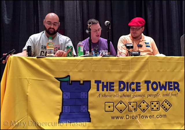 The Dice Tower Live - the thread-like things you see are Silly String