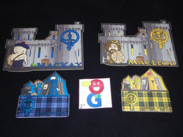 Your castle and camp in four lovely tartans