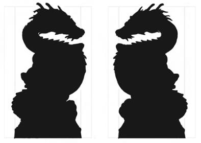 Tsuro Pawn Outlines