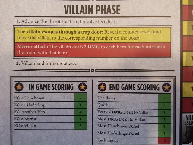 End game scoring