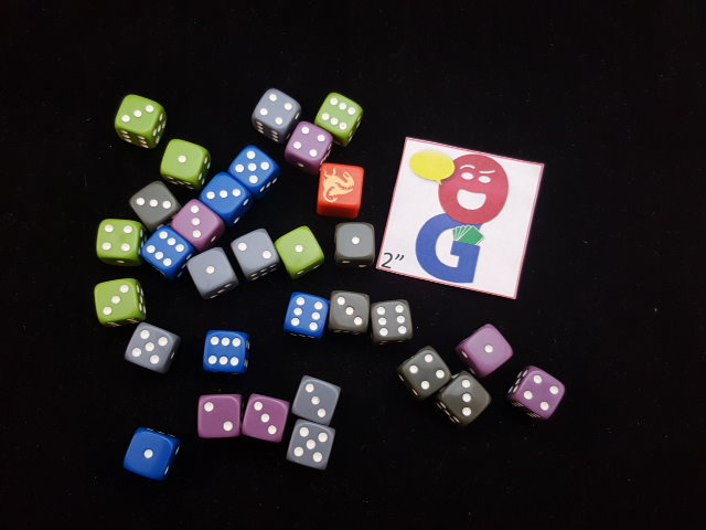 the varied dice in the game