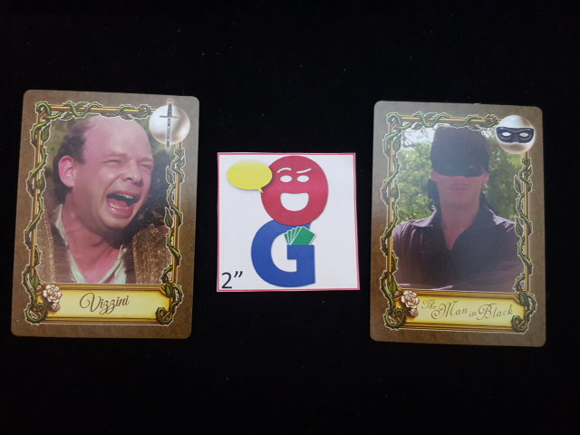 Two of the character cards in the game