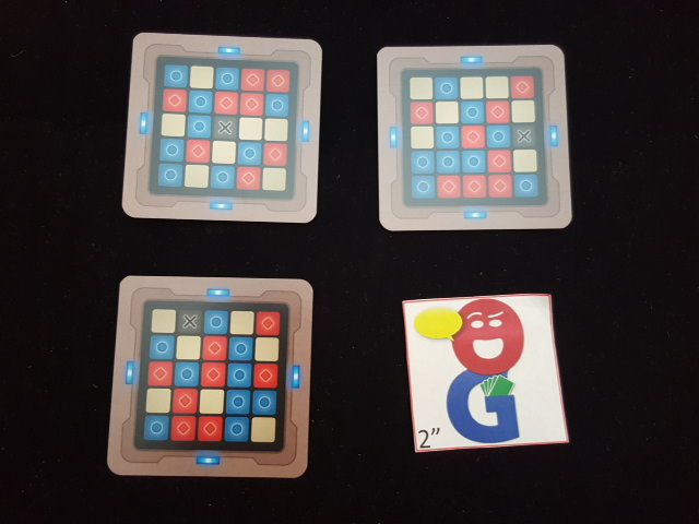 Some of the 5x5 grid cards