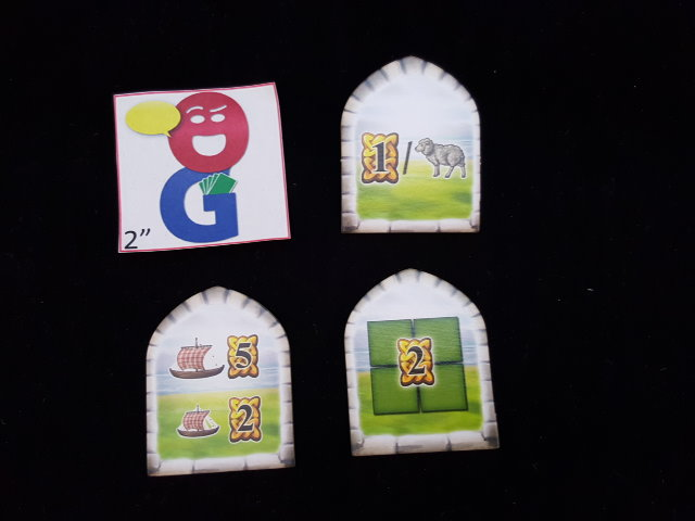 Some of the different scoring tiles