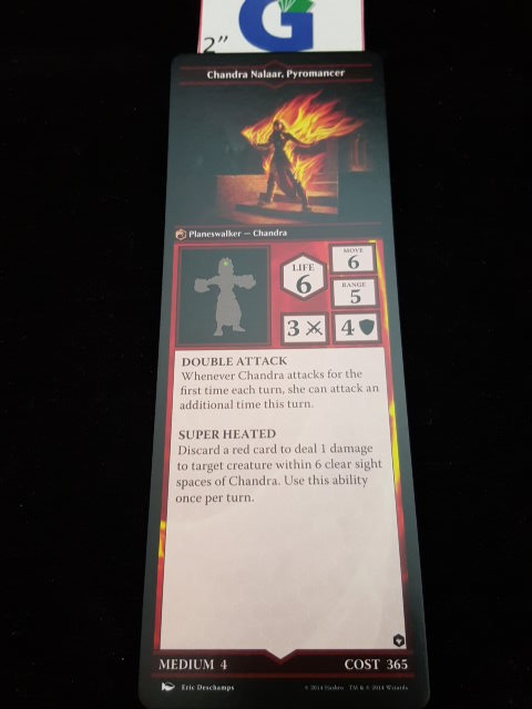 a closer look at one of the cards