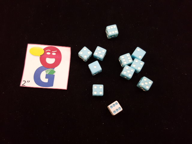 the only light blue dice that i own