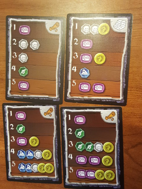 Examples of the Dungeon Cards