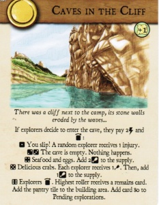 Castaways - explore card