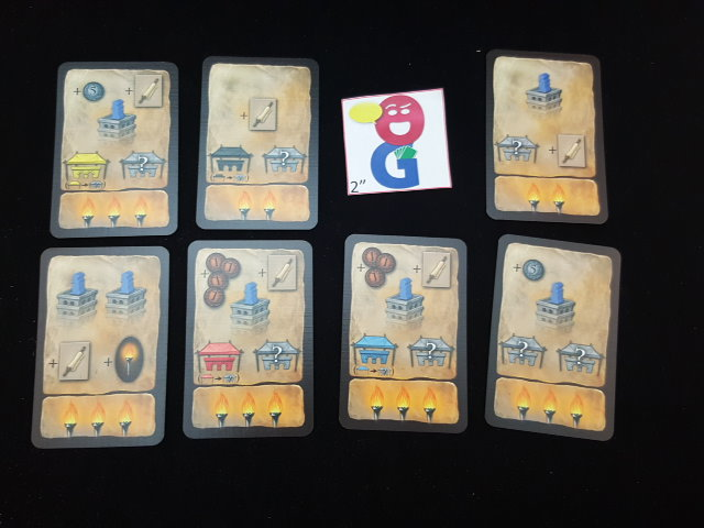 Action cards from the blue player