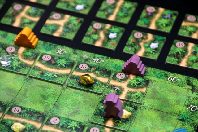 Purple about to make it to the temple. Image courtesy of henk.rolleman on BGG