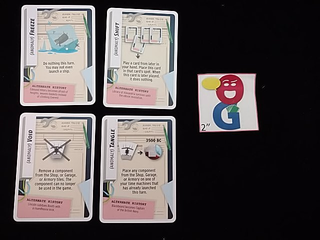 Example of anomaly cards