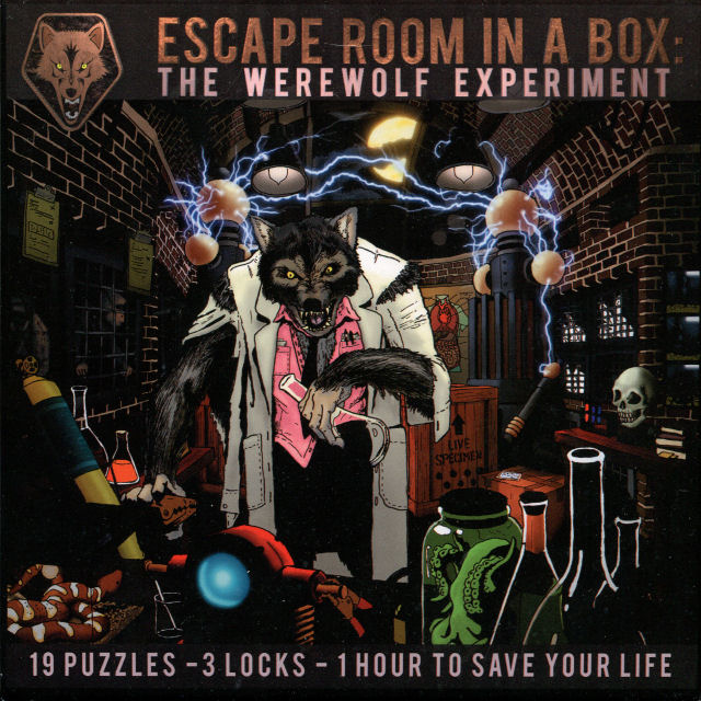 Escape Room in a Box: The Werewolf Experiment - Box Front