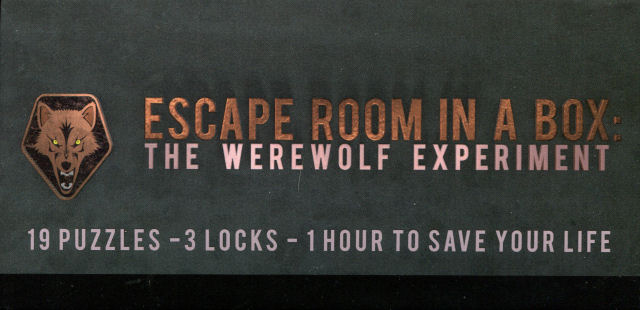 Escape Room in a Box: The Werewolf Experiment - Box Side