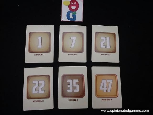 Examples of the numbered cards