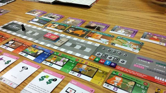 You need a lot of table space - here is the setup of the basic game... (Pic courtesy of Dan Edelen (edelen) from BGG)