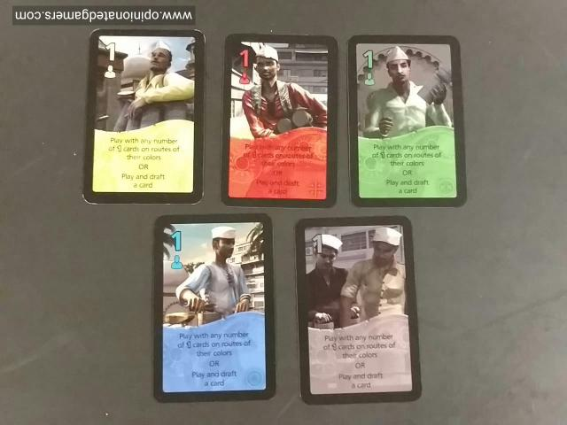 The 5 different color of cards