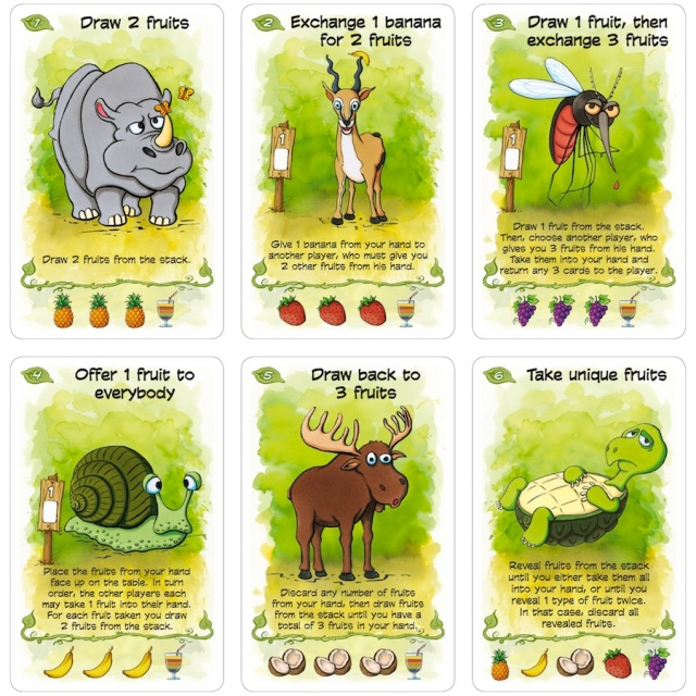 fabled fruit example cards