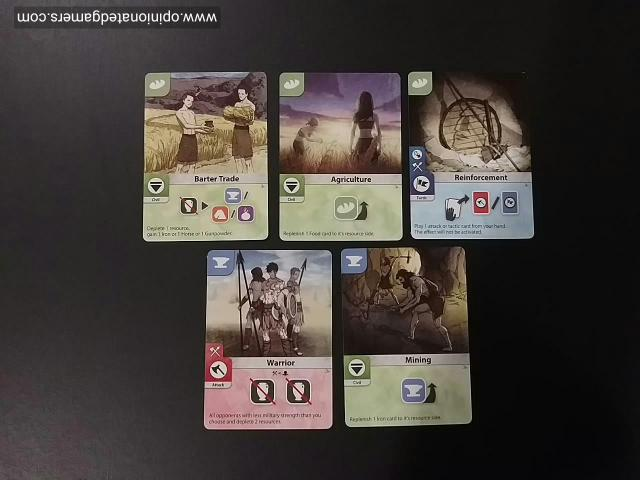 A set of starting cards