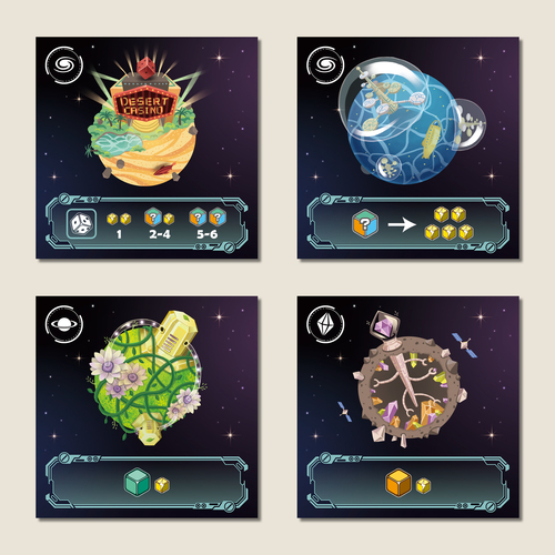 some of the planet cards