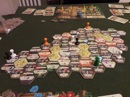 Here is a end game pic of a full 4 Era game, courtesy of BGG user starpino