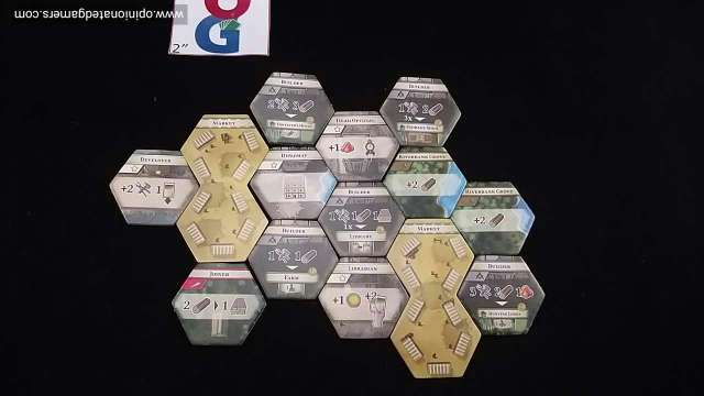 An example Era 0 setup... These are just the first 12 tiles and 2 markets!