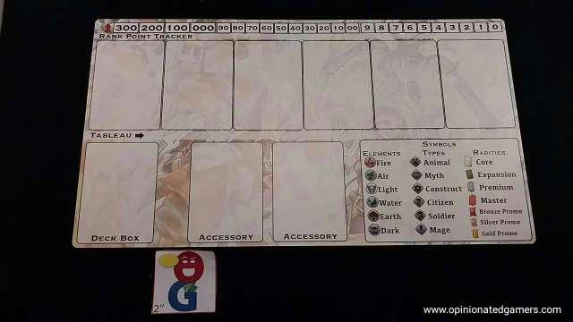 Player board - tournament side