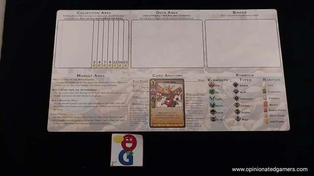Player board - deckbuilding side