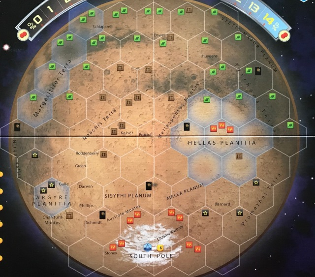 Terraforming Mars as & Elysium (Expansion Review by ... on borealis basin on mars, detailed map of mars, map of a trip to mars, political map of mars, map of mars space, map of mars land, modern map of mars, map of mars with water, terraforming of mars,