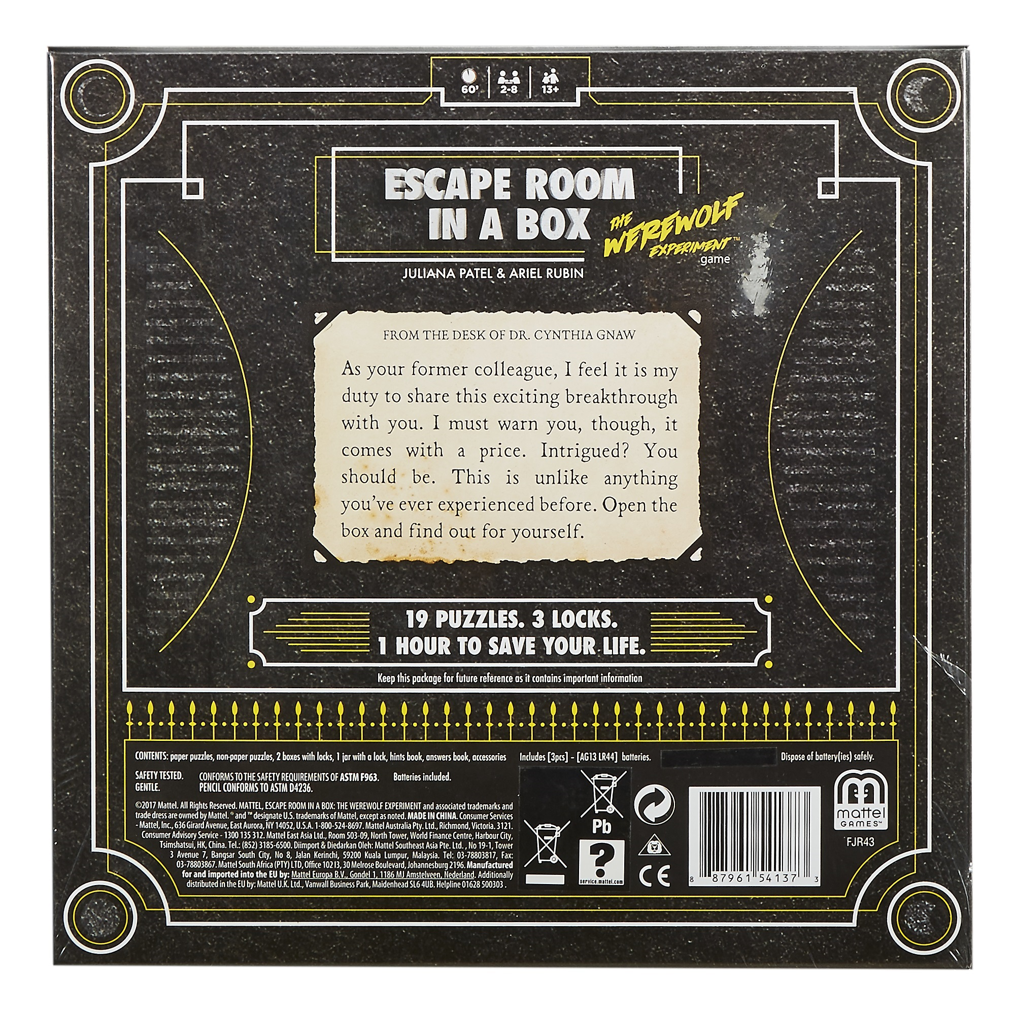 re review escape room in a box the werewolf experiment. Black Bedroom Furniture Sets. Home Design Ideas