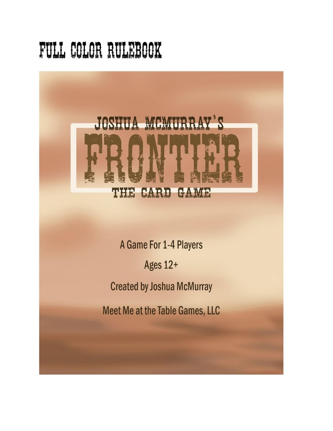 Review of Frontier the Card Game – Meet Me At The Table Games | The