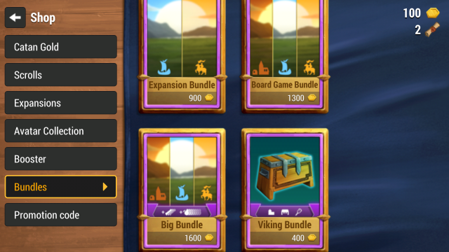 catan universe how to get gold